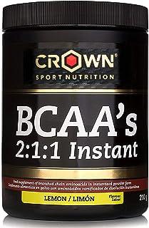 comprar comparacion Crown Sport Nutrition BCAA 2:1:1 Instant, aminoácidos ramificados de disolución instantánea para deportistas, Sabor de Lim...