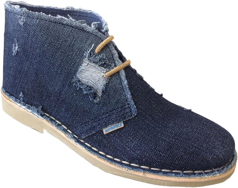La Auténtica K100T - Desert Boot, Cowboy Fabric, Unisex Adult, bluee Jeans Dark