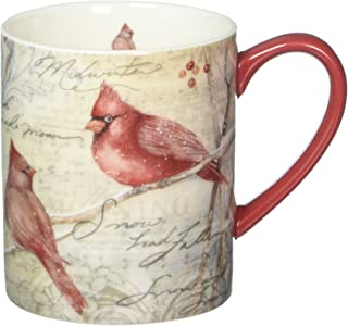 Lang Cardinal Pair Mug by Susan Winget, 14 oz, Multicolored