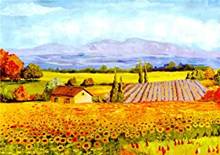 2000 Piece Puzzles For Adults, Beautiful Fields, Wooden Personalised Assembling Jigsaw Fun Game, 105X75Cm