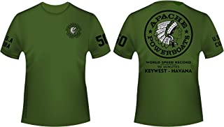Apache Powerboats Official World Record T-Shirt in Cotton or Cool Dri