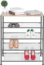 Cikonielf Schoenenrek met 5 niveaus, 63 x 30 x 81 cm, schoenenrek met 5 niveaus van ijzer, organizer voor schoenen voor wo...