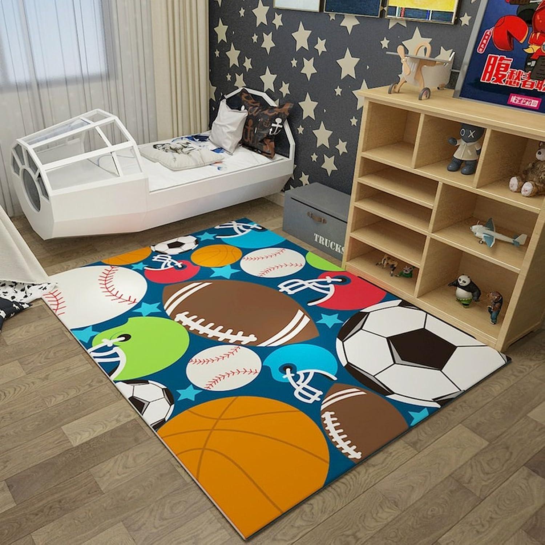 gran descuento Yonwangzhiqian Alfombra de la Cama de la la la habitación de los Niños Estera de Arrastre del bebé de los Niños Sala de EEstrella Alfombra Rectangular (Color   A, Talla   120X160CM)  barato en línea