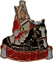 #1 Best Selling, English Royal Horseguard / Mounted Horse Patrol / Mounted Guard UK Lapel Badge Pin Souvenir! Souvenir/Speicher/Memoria! Red, Black and White Metal and Enamel London, England British UK English Royal Horseguard / Mounted Guard Lapel Pin! An Elegant, One-of-a-Kind British Souvenir! Épinglette/Anstecknadel/Spilla/Perno de la Solapa!