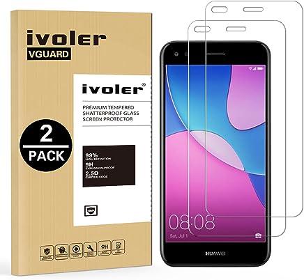 94f5536ecf6 iVoler [2 Pack] Pellicola Vetro Temperato per Huawei Y6 PRO 2017 / Huawei P9