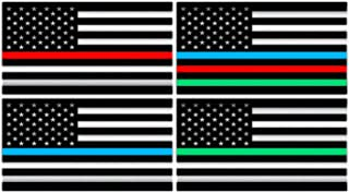 Best thin red blue line decal Reviews