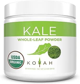 KOYAH - Organic USA Grown Kale Powder (Equivalent to 30 Cups Fresh): Freeze-dried, Whole-Leaf Powder