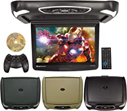 "Rockville RVD15BGB Black/Grey/Tan 15"" Flip Down Car Monitor w DVD/HDMI/Games/USB"