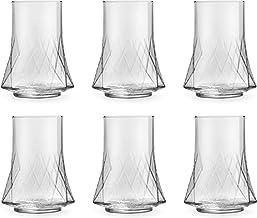 Libbey Longdrinkglas Divergence – 350 ml/35 cl – 6 stycken – diskmaskinssäker – Unik design