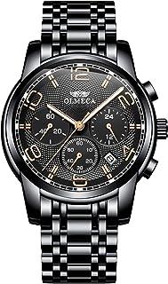 OLMECA Reloj de brazalete deportivo de lujo para hombre, cronógrafo, calendario, fecha, cuarzo, resistente al agua, relojes para mujer