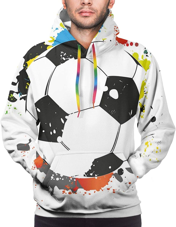Men's Hoodies Sweatshirts,Abstract Grunge Graffiti Happiness Invoking Message Wall Art Design