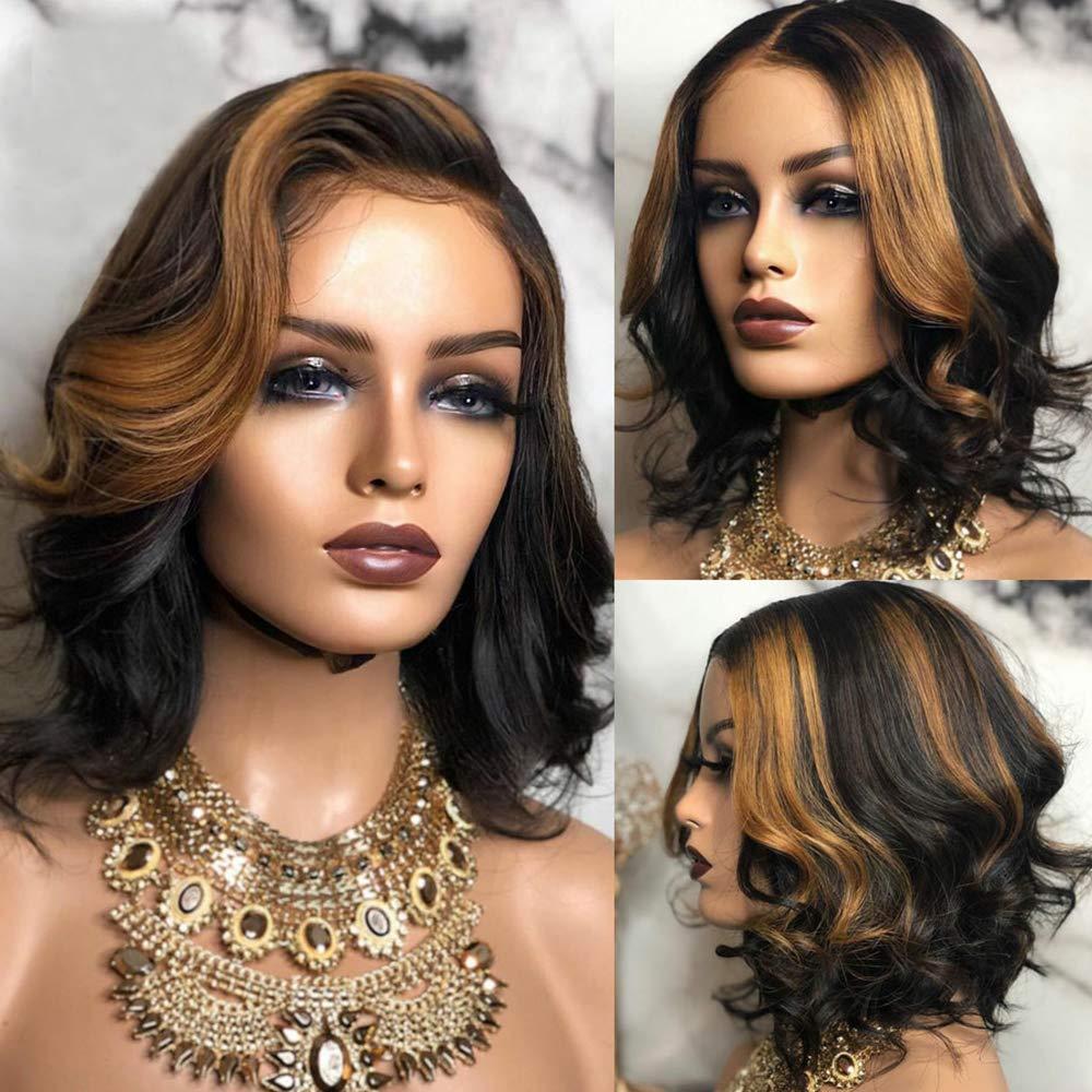 Ombre Max 62% OFF Blonde Short Bob Wigs depot 27 Highlight Hair Human W