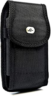 Wonderfly Vertical Pouch for Samsung Galaxy Mega 6.3/HTC One Max/Nokia Lumia 1520/LG G Flex, Nylon Case with Belt Clip Fit...