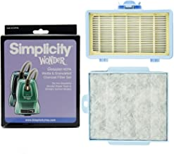 Simplicity Genuine HEPA Media & Granulated Charcoal Filter Set for Wonder Power Team & Straight Suction Models