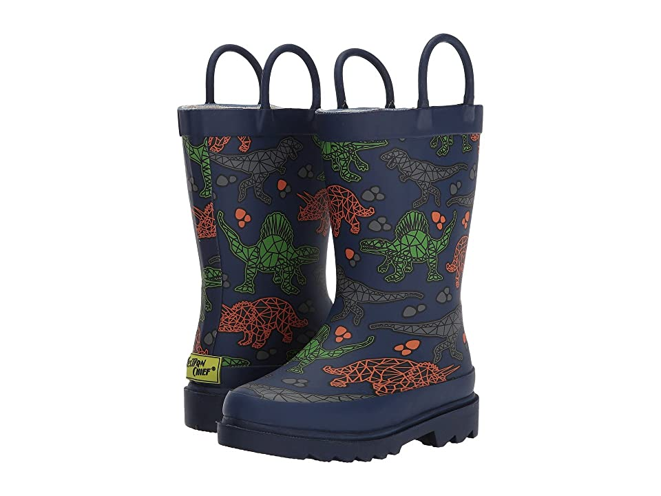 Western Chief Kids Dino Facet Rain Boots (Toddler/Little Kid/Big Kid) (Navy) Boys Shoes