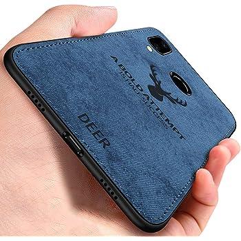 Noziroh Jeans Originale Cover Custodia Tessuto Denim Per Xiaomi Redmi Note 7 Blu
