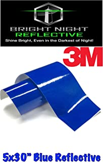 Bright Night Reflective 3M Motorcycle Helmet Safety Tape Decal Sticker Kit DYI (Blue, 5x30)