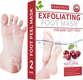 【2021 Newest!】 Foot Peel Mask 2 Pack For Cracked Heels, Baby Feet Booties Peeling Away Calluses and Dead Skin Cells, Feet ...