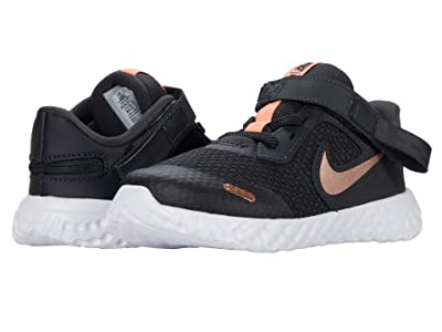 Nike Kids Flyease Revolution 5 (Infant/Toddler) (Dark Smoke Gray/Metallic Red Bronze) Kid