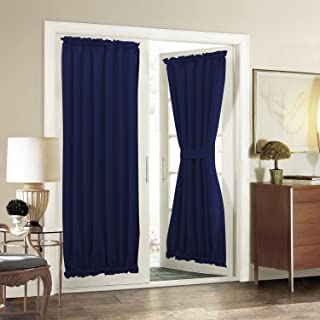 Aquazolax Patio Door Curtain Panels for Privacy Thermal Insulated 54
