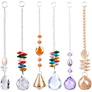 LONGSHENG - SINCE 2001 - Chandelier Suncatchers Prisms Octogon Chakra Crystal Balls Hanging Pendant Ornament with Gift Box for Home,Office,Garden Decoration