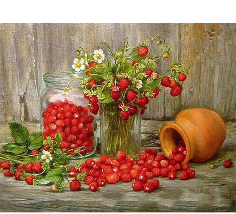 Waofe  Rahmen Wild Wild Wild Strawberry Diy Malen Nach Zahlen Acryl Leinwand Wand Kunst Bild Malen Nach Zahlen Einzigartiges Geschenk Für Home Art B07Q3KL4WJ | Üppiges Design  9ba769
