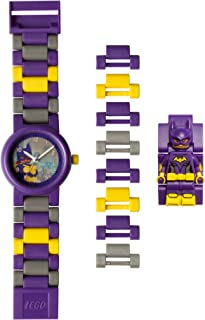 LEGO Batman Movie 8020844 Batgirl Kids Minifigure Link Buildable Watch | purple/yellow | plastic | 25mm case diameter | analogue quartz | boy girl | official
