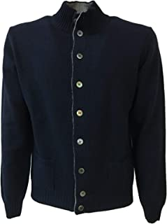 Della Ciana Cardigan Uomo Blu Art 18256X2 80% Lana 20% Cashmere Made in Italy