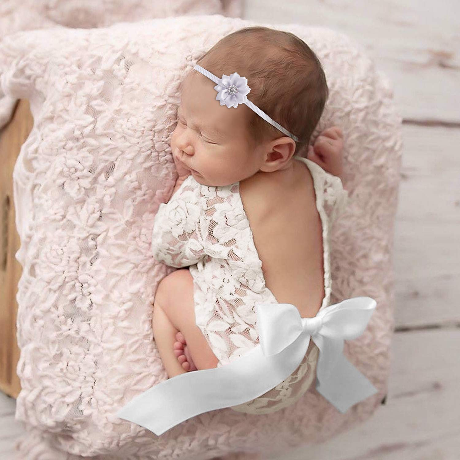 Baby Girl Baby Clothing Lace Romper Newborn Photography Props Big Bow Bodysuit