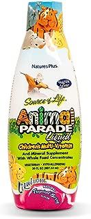 NaturesPlus Animal Parade Source of Life Children's Liquid Multivitamin - Tropical Berry Flavor - 30 fl oz - Whole Food Supplement - Vegetarian, Gluten-Free - 60 Servings