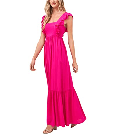 CeCe Sleeveless Ruffled Maxi Dress