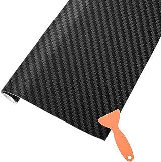 Gulin 4 St/ück Universal-Autot/ürgriff Lackierschutzfolie Carbon-Schutzfolie Griffmulde schwarz selbstklebend