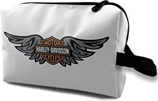 Lovesofun Harley David-Son Portable Travel Makeup Bags Toiletry Bag Luggage Cosmetic Packing Bag with Zipper