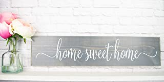 Gray Home Sweet Home Wood Home Wall Décor Sign – Farmhouse Wood Sign Sayings