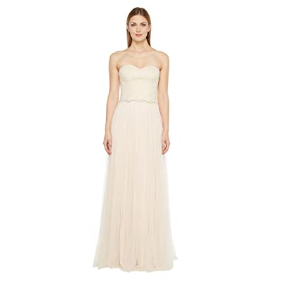 Donna Morgan Adeline Strapless Top Skirt (Fawn) Women