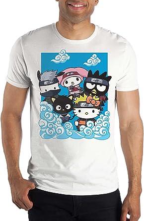 Naruto Shippuden x Hello Kitty And Friends Cloud Group Short Sleeve T-Shirt