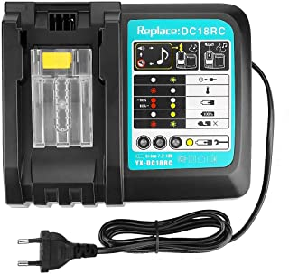 charger 18 V compatible with Makita construction site radio DMR107 DMR108 DMR110 DMR112 DMR114 DMR115 DMR102 DMR103 DMR104...