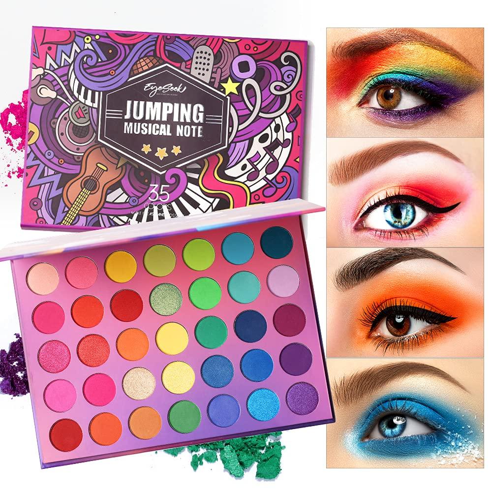 Eyeseek Colorful Eyeshadow Palette 35 Pigmented Colors Make Super-cheap Reservation High