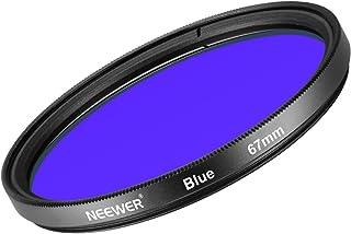 Neewer 67mm Filtro de Lente Azul para Canon Rebel (T5i T4i T3i T2i) EOS (70D 700D 650D 600D 550D) Cámara Réflex Digital de Vidrio Optico de Alta Definición y Marco de Aleación de Aluminio