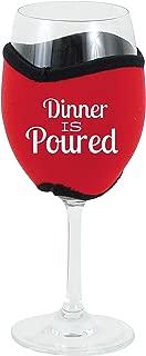 Oenophilia Vino Hug Neoprene Wine Glass Sleeve, Dinner is Poured