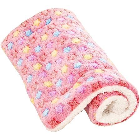 Yihiro ペット用ベッド・マット クッション 犬・猫用 洗える ぐっすり眠る 快適 ふわふわ ベッドソファ(ピンク・S)