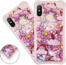 HMTECHUS Redmi 6 Pro case for Girls Glitter Soft Flexible TPU Silicone Liquid Anti-Fall Shell Quicksand Clear Shockproof?P...