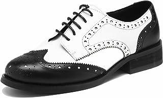SimpleC Scarpe da Donna Stile Classico in Pelle Sintetica Brogue Pointe Toe in Pelle Semplice