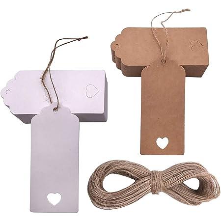 100pcs Herzform Papieranhänger Geschenkanhänger Geschenketiketten