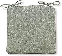 Almofada de assento de algodão e linho para cadeira, almofada removível, quadrado macio respirável com gravatas Almofada d...