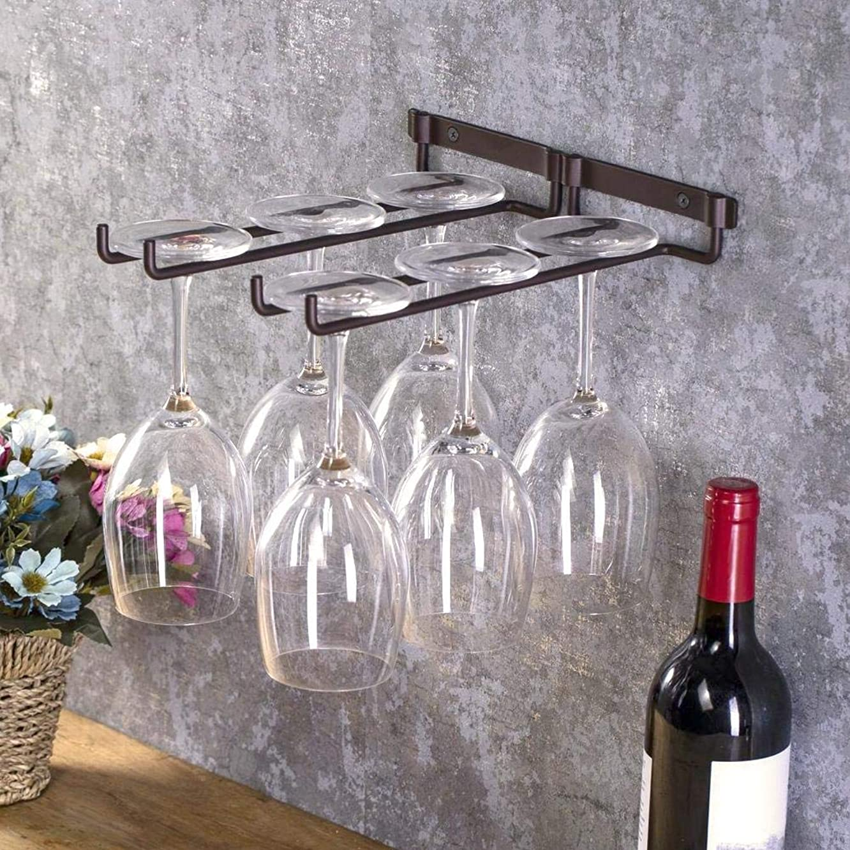 プレゼンテーション有罪ジャンクSalinr ワイングラスホルダー グラスハンガー ラック ワイングラスハンガー ワイングラスラック グラスホルダー 素晴らしい装飾 吊り下げ ネジ 付き 収納 2列
