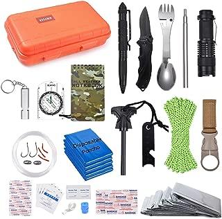 EILIKS Emergency Survival Kits, CHANGKU Multi Professional Tactical Kit Outdoor Survival Gear Kit for Traveling Hiking Biking Climbing Hunting
