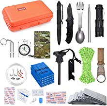 EILIKS Survival Kits 47 in 1 Outdoor Emergency SOS Survival Gear Kits for Car Camping Hiking Trekking Wild Adventure Earthquake Survive Tool for Him Father Husband Men Dad Boyfriend Gift