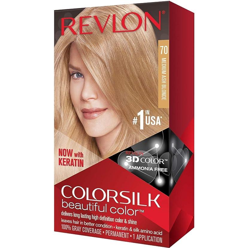 見分けるワゴン緊急海外直送品Revlon Colorsilk Natural Hair Color, 7A Medium Ash Blonde each by Revlon