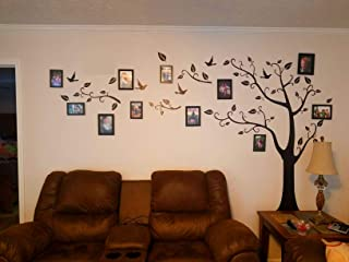 Large Family Tree Wall Decal DIY Black Photo Frame Tree Wall Decor Sticker Mural Decal Art Décor for Living Room Home Decor